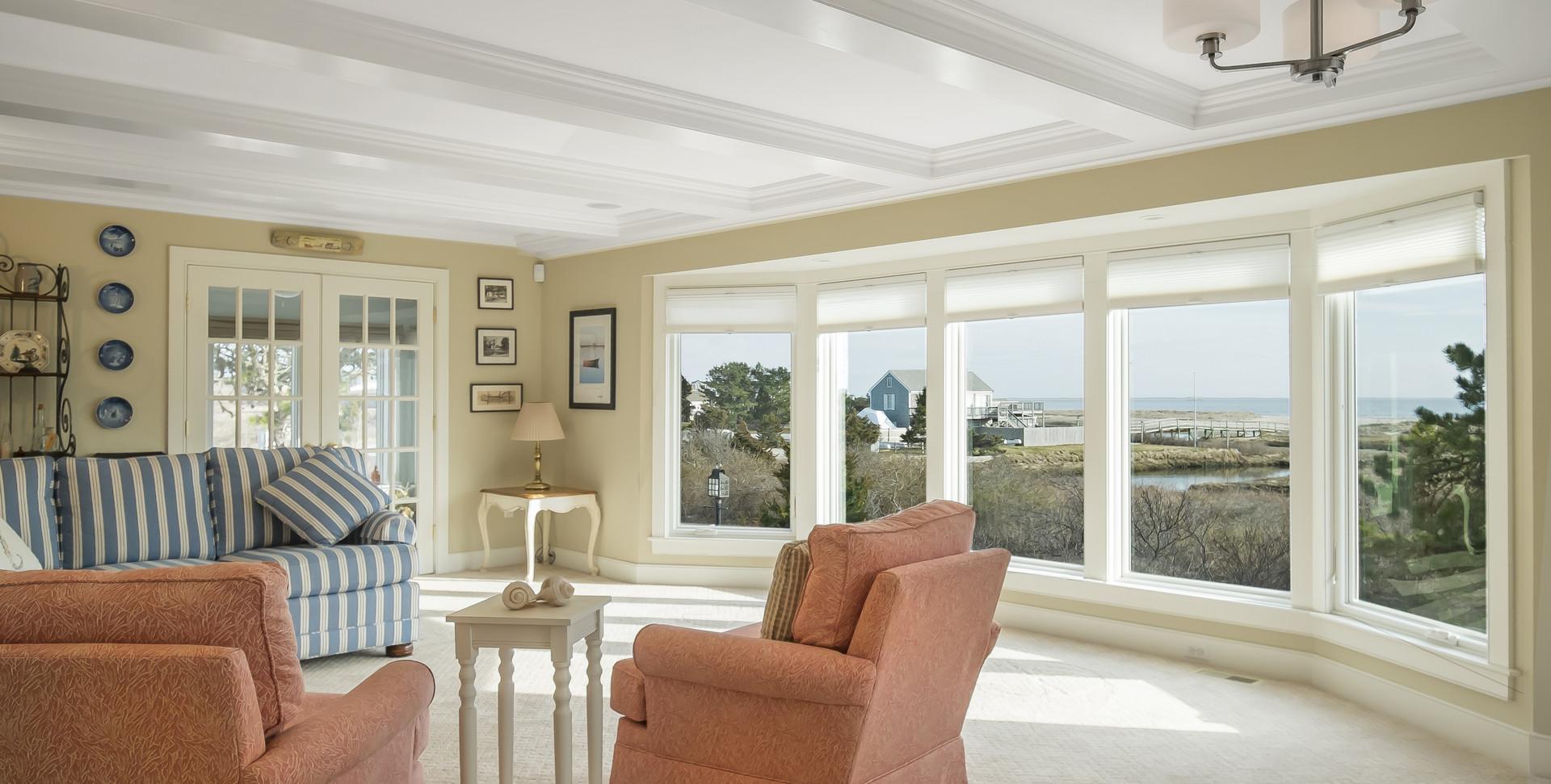 Ridgevale Beach, West Chatham, MA, Home Remodel, Cape Cod living room
