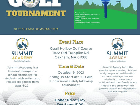 First Annual Summit Golf Tournament - October 9th