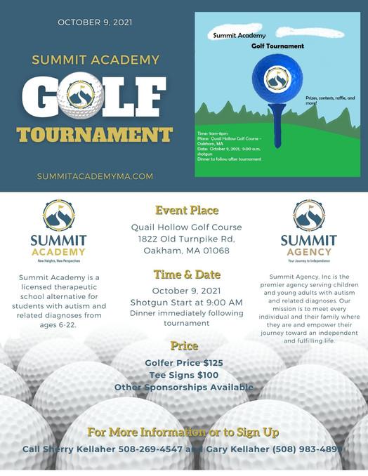 Summit Academy Golf Tournament - October 9th