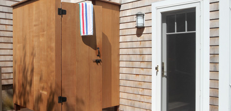 Ryders Cove, North Chatham Cape Cod Home Renovation, Outdoor Shower