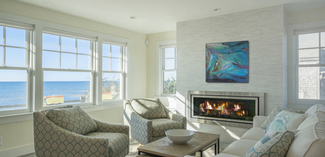 First Encounter Beach, Eastham MA New Home Construction, Living Room