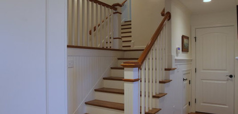 Ryders Cove, North Chatham Cape Cod Home Renovation, Custom staircase