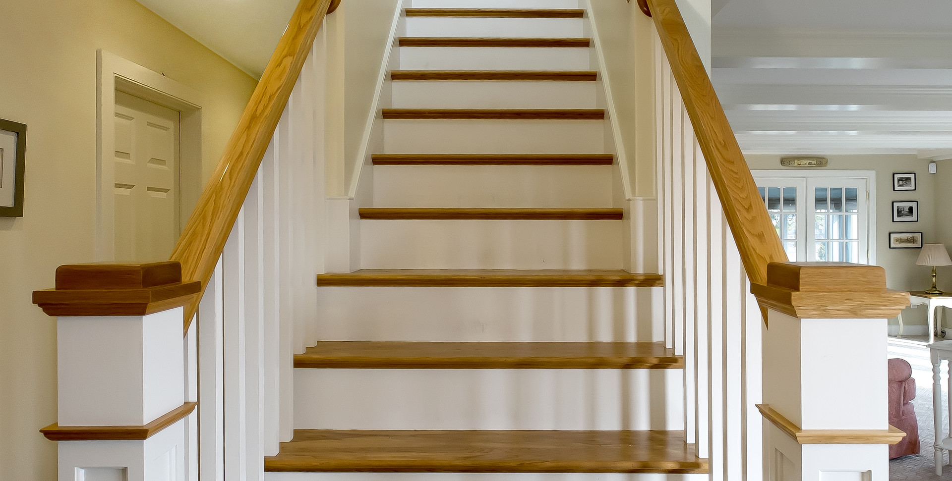 Ridgevale Beach, West Chatham, MA, Home Remodel, custom staircase