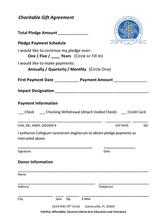 Charitable Gift Agreement