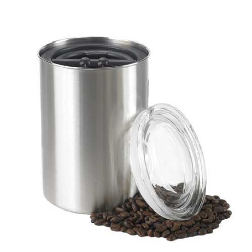 Stainless Steel, Airtight Coffee Storage Canister