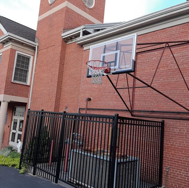 Basketball Hoops at St. Mary's