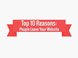 Top 10 Reasons People Leave Your Website [Infographic]