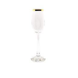 Gold-Rimmed Champagne Flute