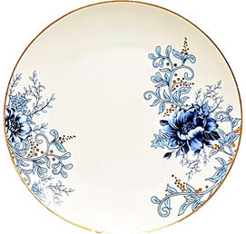 Blue Peonies with Gold Trim - Coming Soon!