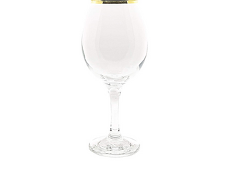 Gold-Rimmed Wine Glass