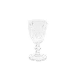 Clear Rhombic Cut Goblet