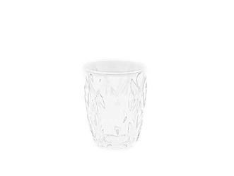 Clear Rhombic Cut Water Glass