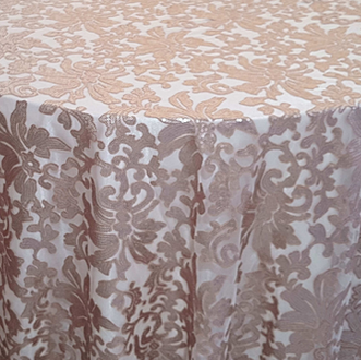 Champagne Milan Lace Overlay