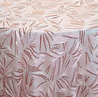 Blush Sparkle Sequins Overlay