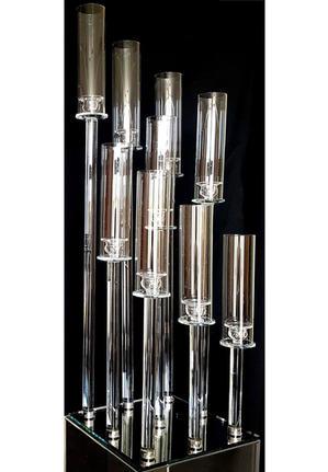 9 Candlesticks Glass Crystal Candelabra