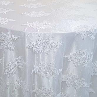 White Venetian Lace Overlay
