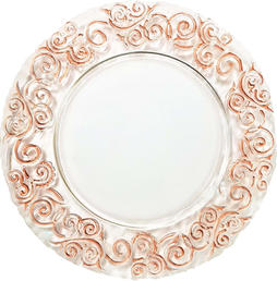 Clear Glass with Rose Gold Foil Trim