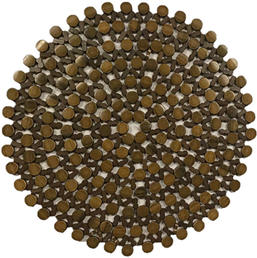 Brown Beaded Charger