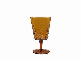 Amber Vintage Swirls Goblet