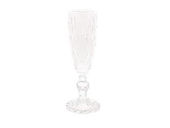 Clear Rhombic Cut Champagne Flute
