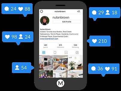 social media engagement on mobile phone