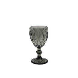Smoke Diamond Cut Goblet