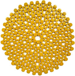 Yellow Beaded Charger