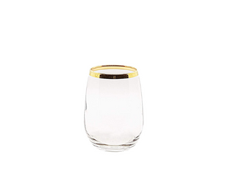 Gold-Rimmed Water Glass