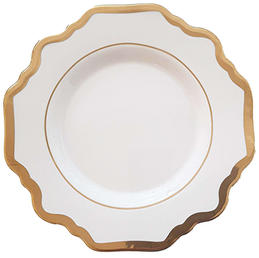 White Sunflower Bread Plate