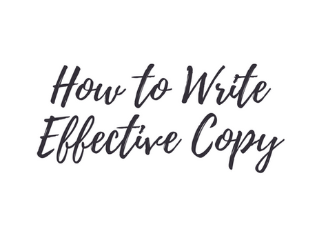 How To Write Effective Copy [Infographic]