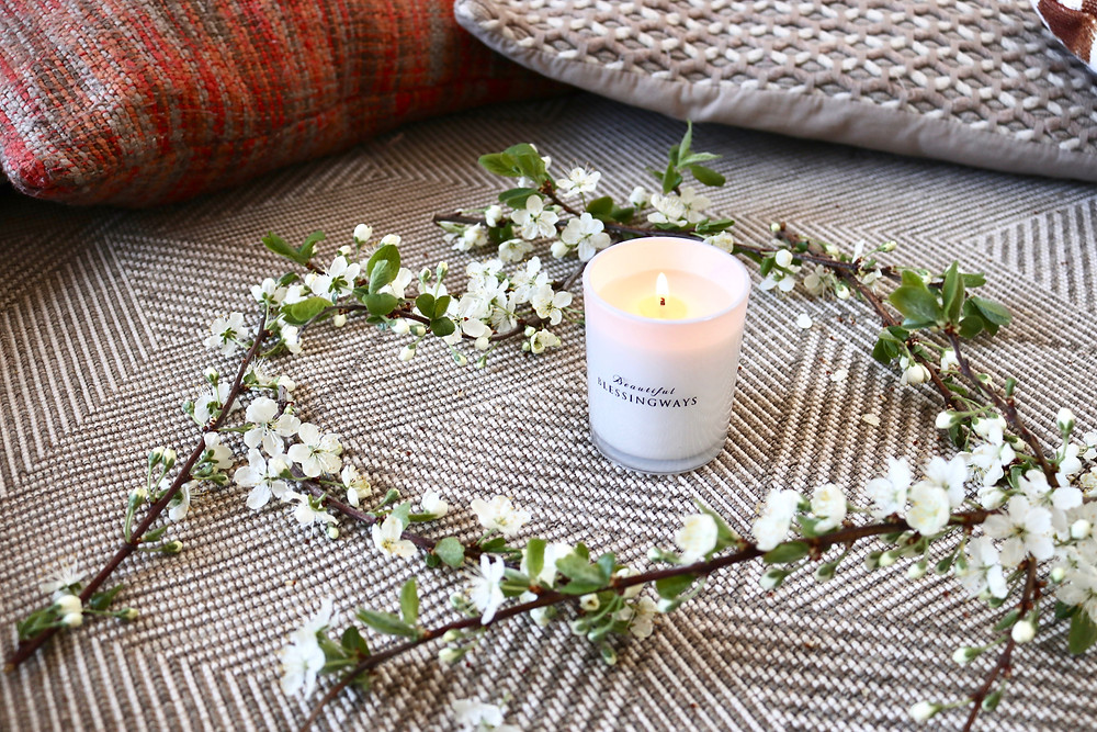 Blessingway lavender scented soy candle