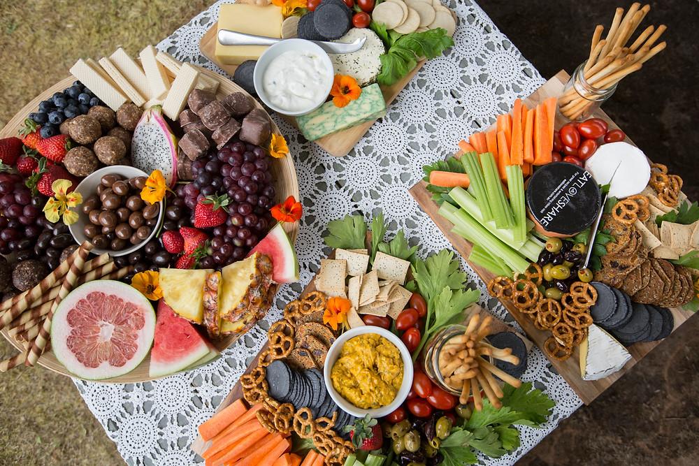grazing platter, chocolate platter, blessingway food