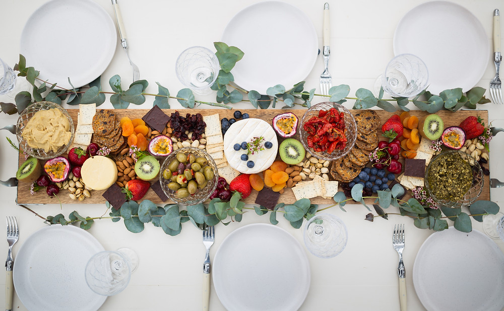 grazing platter, blessingway, baby shower, event planning, boho boho picnic