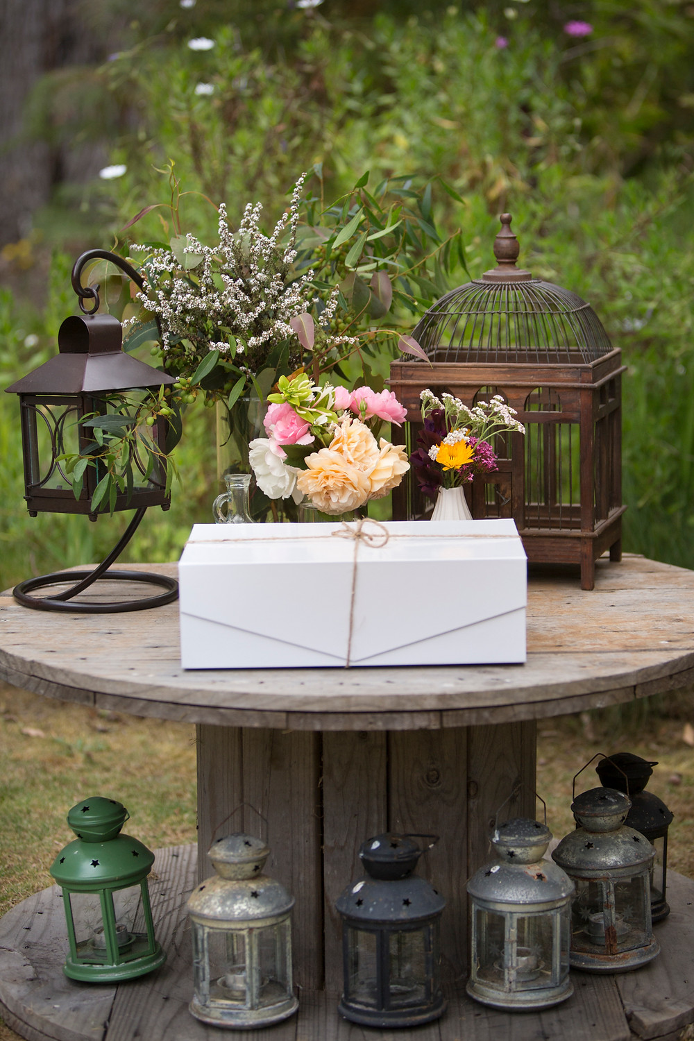Blessingway box, event styling, baby shower