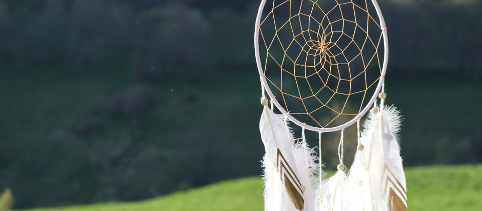 sleeping baby dream catcher