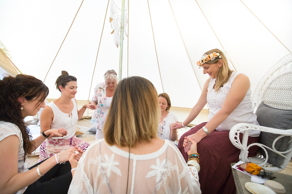 bell tent, blessingway, mother blessing, baby shower, meditation, women circle, dreamcatcher, peacock chair