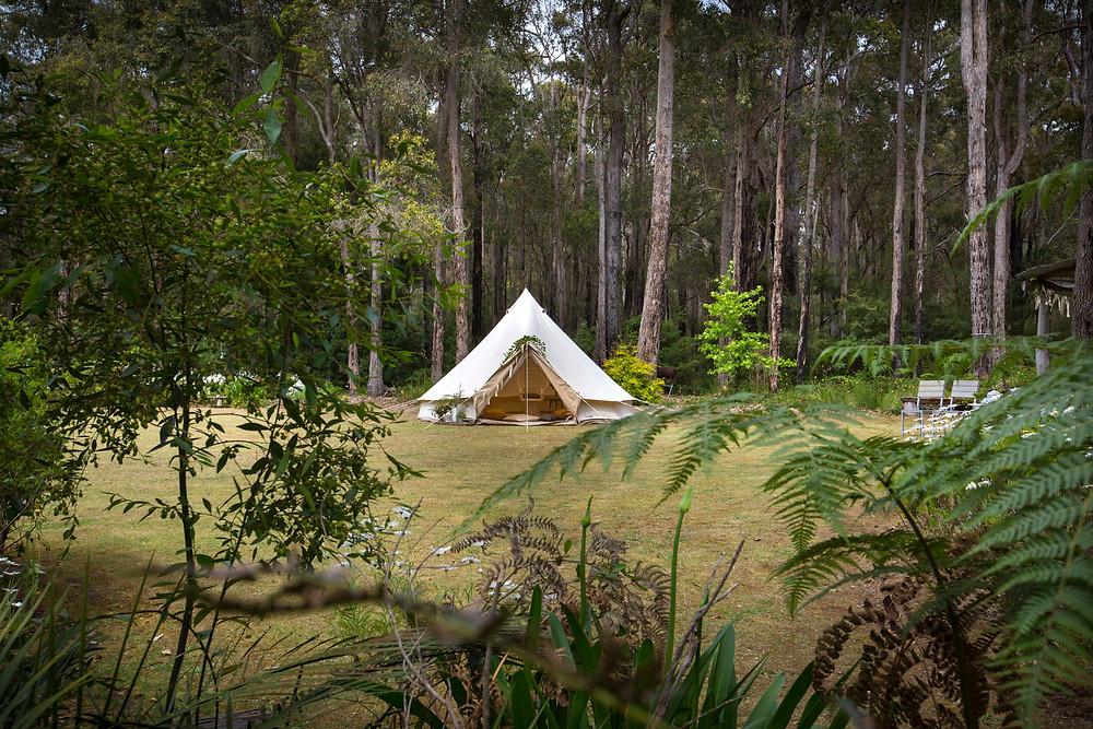 Bell tent Blessingway