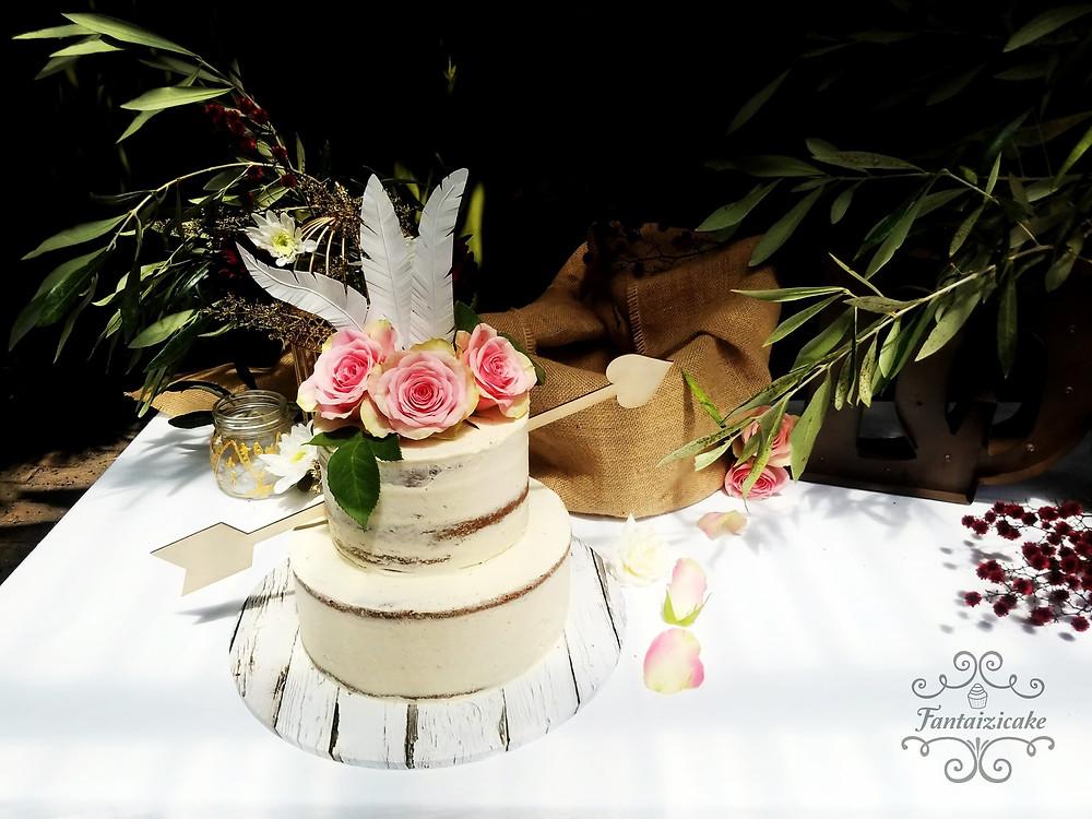boho cake, blessingway, boho, baby shower, event planner