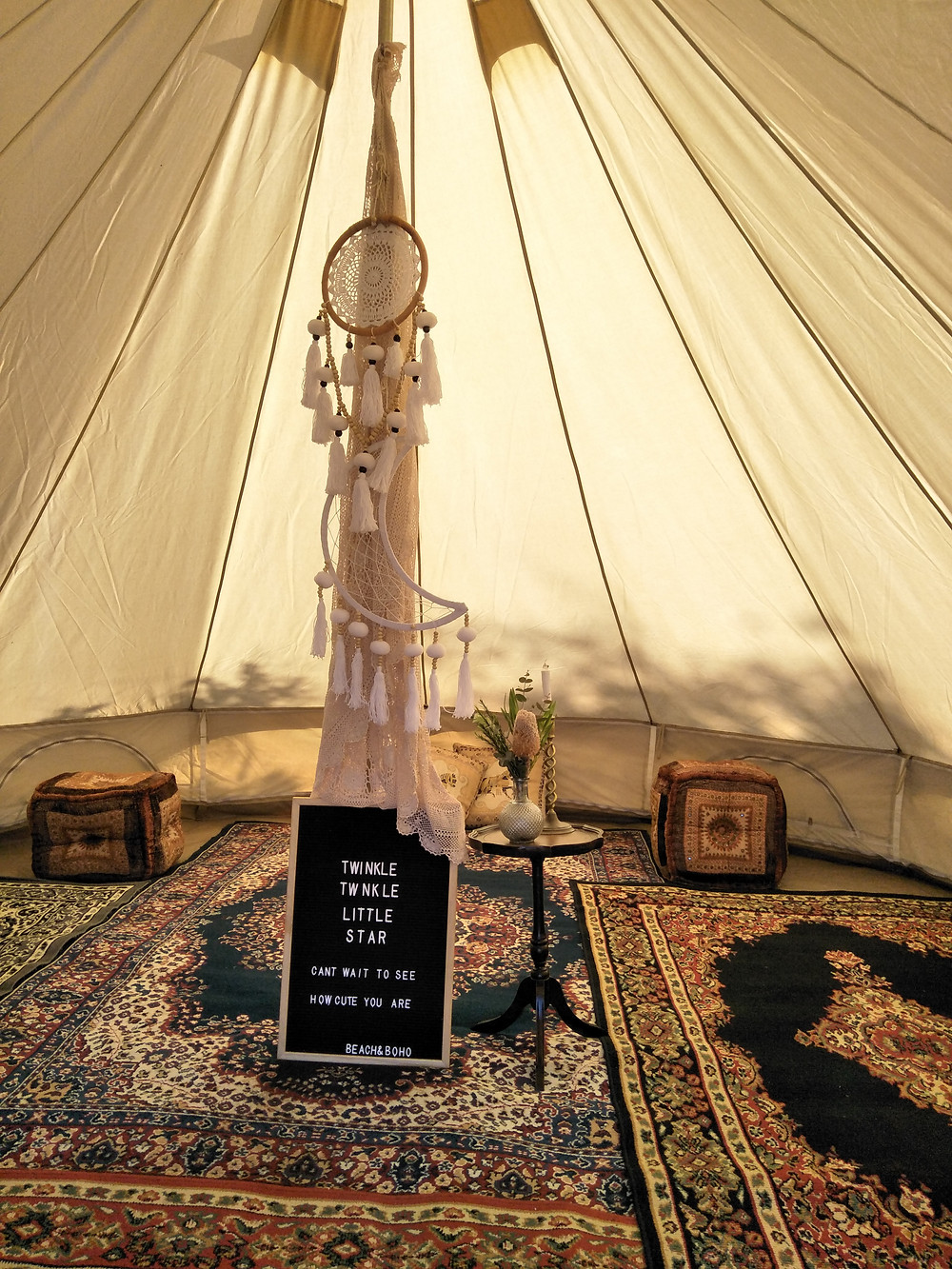 Blessingway, bell tent, event decoration, baby shower