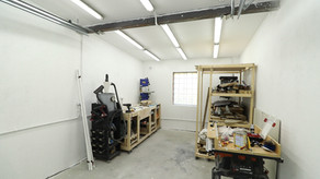 How to install plastic conduit and LED lights in a garage.