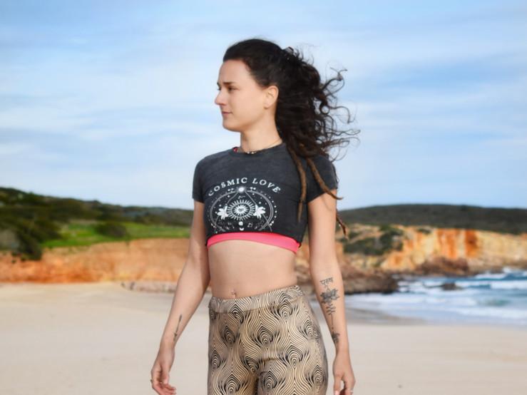 yoga teacher beach