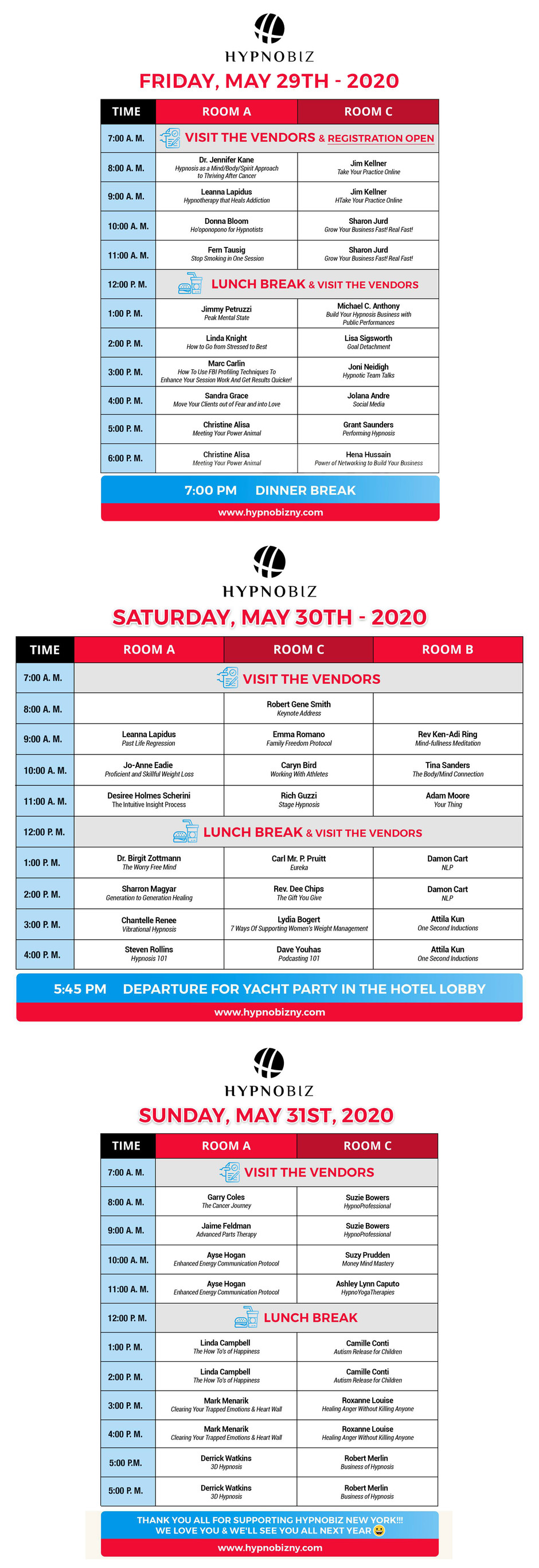 Come To - HypnoBizNY 2020 Times Square NYC
