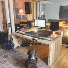 Snoop the Dog in the Control Room at White Bear Recording Studios Manchester
