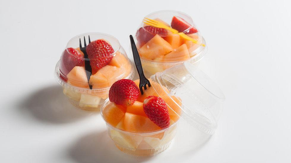 Pack 12 vasos de fruta cortada
