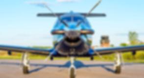 Front View of Pilatus PC-12