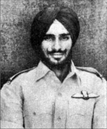 Flying officer Nirmal Jit Singh Sekhon Parim Vir Chakra Winer