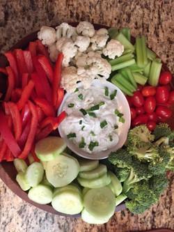 hoocheecue veggie tray