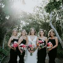 Modern Wedding Bridal Party Squad