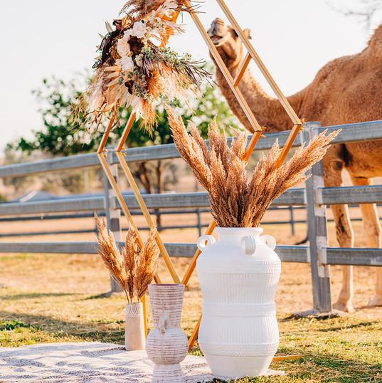Rustic Boho Wedding Ceremony
