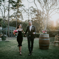 Modern Wedding Bridal Party Entrance